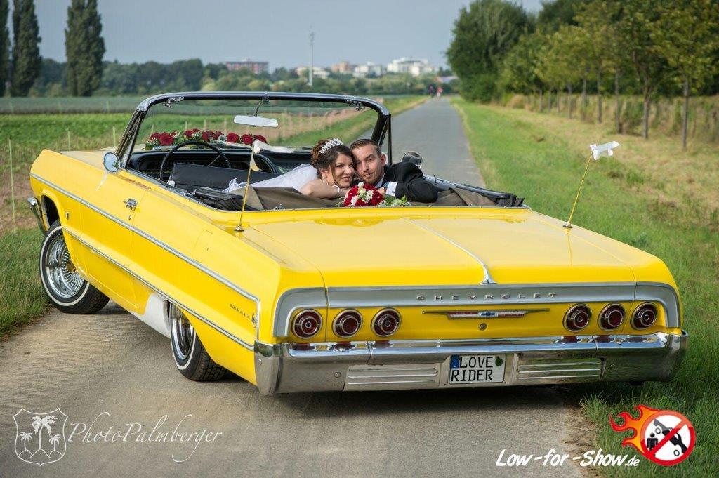 Lowrider als Hochzeitsauto mieten